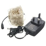 40M LED Silver Wire Fairy String Light Christmas Xmas Wedding Party Lamp 12V