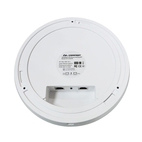 COMFAST CF-E325N Atheros AR9341 300Mbps/s Wall Ceiling Wireless WiFi AP  with Hexagon 7 Colors LED Indicator Light & 48V POE Adapter, Support 85