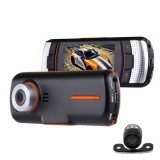 A1 Car DVR Camera 2.7 inch LCD Full HD 1080P 2 Cameras 170 Degree Wide Angle Viewing, Support Night Vision / Motion Detection / TF Card / HDMI / G-Sensor