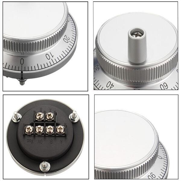 CNC Pulser Handwheel Chacerls Pulser Rotary Encoder 5V 80mm 6Pin ...
