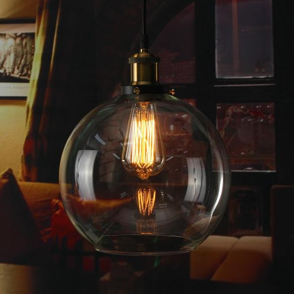 Modern Vintage Ceiling Light Crystal Gl Pendant Chandelier Fixture Lamp Shade