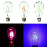 E27 ST64 Retro Edison LED 4W COB Squirrel Cage Colorful Filament Glass Light Lamp Bulb AC 220V