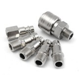 6pcs 1/4inch Male/Female BSP Adapter Compressed Air Quick Coupling Hose