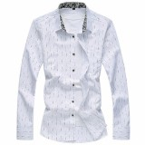 Mens Plus Size S-5XL Autumn Plaid Decorative Pattern Printing Long Sleeve Fashion Casual Shirt