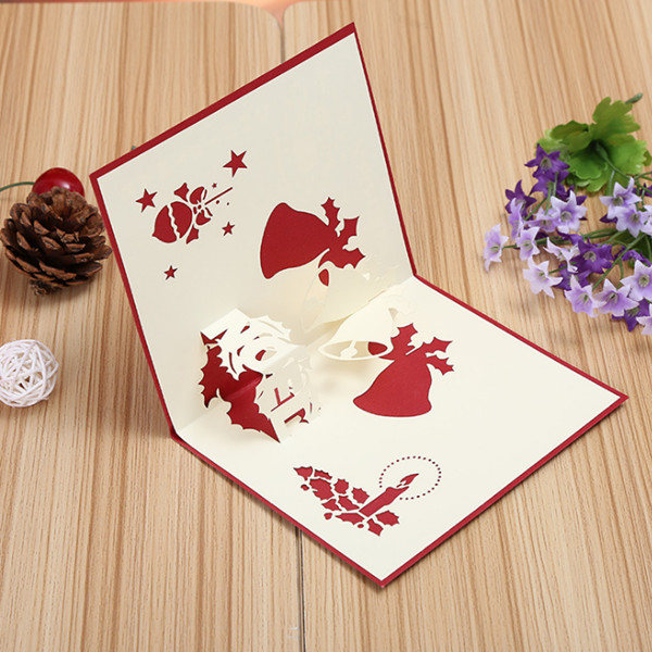 3d pop up greeting card table merry christmas postcard for 3d christmas cards to make at home