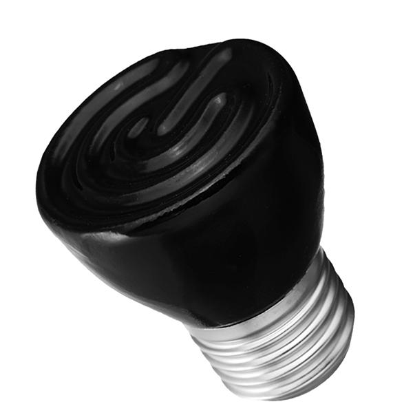 25w 50w 75w 100w Pet Reptile Far Infrared Ceramic Emitter Heat Lamp Bulb For Reptile Pet Brooder