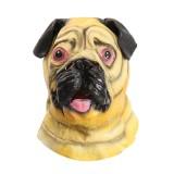 Shar Pei Head Mask Creepy Animal Halloween Costume Theater Prop Latex Party Toy