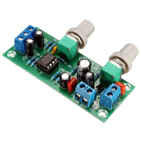 DC 12V-24V Low-pass Filter NE5532 Subwoofer Pre-Amplifier Preamp Board