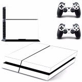 White Skin Sticker for PS4 PlayStation 4 Console 2 Controller Protector Skin