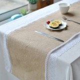 Lace Cotton Linen Tableware Mat Table Runner Tablecloth Desk Cover Heat Insulation Bowl Pad