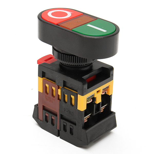 220v Red Green Power On Off Start Stop Push Button Light