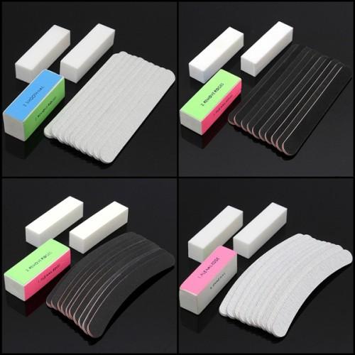 13Pcs Nail Art Sanding Files Buffer UV Gel Block Pedicure Manicure Tools Set