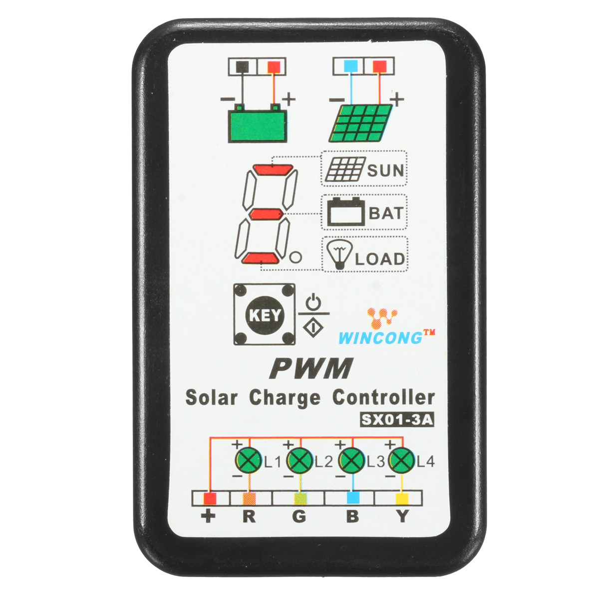 Sx01 3a 3v 6v 12v Solar Regulator Charge Controller Lcd Remote Meter 20a Pwm Charger Battery Charging Alex Lifepo4