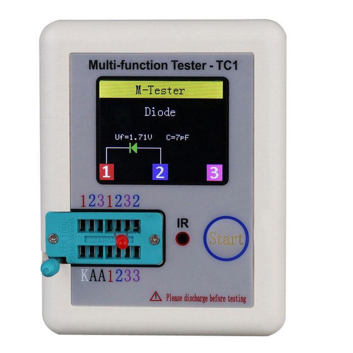 Transistor Tester TFT Diode Triode Capacitance Meter LCR NPN ESR PNP MOSFET NEW
