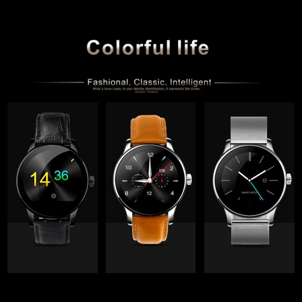 K88H 1.22 inch 2.5D Curved Screen Bluetooth 4.0 IP54 Waterproof Metal Strap Smart Bracelet with Heart Rate Monitor & BT Call & Pedometer & Call Reminder & SMS / Twitter Alerts & Anti lost & Remote Camera Functions For Android 4.4 OS and IOS 7.0 or Above Devices (Rose Gold)