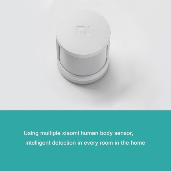 5 in 1 Original Xiaomi Intelligent Multifunctional Gateway Upgraded Version + Original Xiaomi Intelligent Mini Wireless Switch + Original Xiaomi Intelligent Mini Door Window Sensor + Original Xiaomi Intelligent Human Body Sensor + Original Xiaomi Intelligent Temperature Humidity Sensor for Xiaomi Smart Home Suite Devices, Support Android 4.0 and IOS 7.0 Above