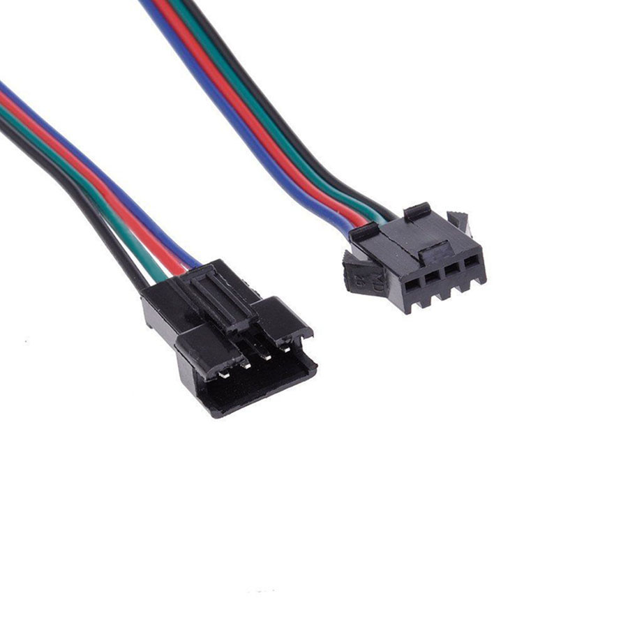 4pin Male Female Connector Wire Cable For Rgb Led Strip Light 4 Pin Wiring 328b81df B745 424b 953c 366380f2e35b