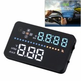A3 3.5 inch Car GPS HUD / OBD Vehicle-mounted Gator Automotive Head Up Display Security System with Multi-color LED, Support Car Speed & Local Real Time & Driving Direction / Distance / Time & Voltage & Elevation & Satellite Signal Display, Support Light Sensor, Mile Switching, Over Speed Alarm Functions
