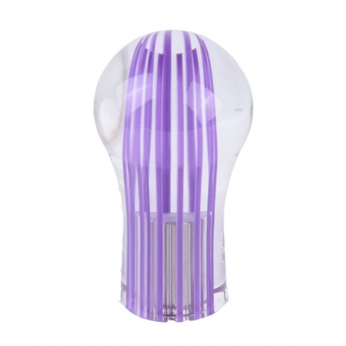 Crystal Double Light Car Breathing Racing Dash LED Magic Lamp Gear Head Shift Knob with Base, Size: 8.2 * 4.5 * 3.0 cm (Purple Light + Blue Light)