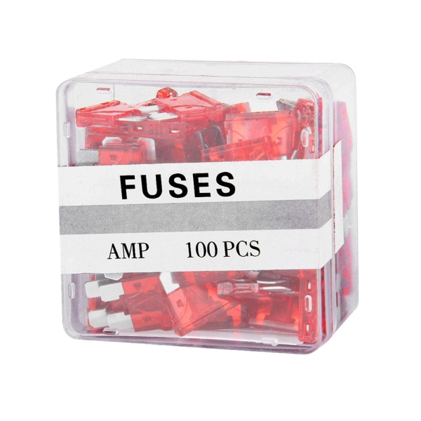 100PCS 12V 10Amp Car Add-a-circuit Fuse Tap Adapter Blade Fuse Holder (Big Size) (Red)