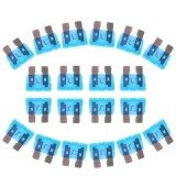 100PCS 12V 15Amp Car Add-a-circuit Fuse Tap Adapter Blade Fuse Holder (Big Size) (Blue)