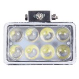 4 inch DC 9-36V 40W 3800LM 6000K IP67 Waterproof Squared Car Spotlight Fog Spot Light Foglight LED Car Bulbs with 8 LED Lights (White Light)