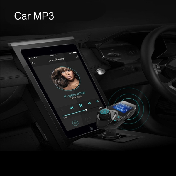 t11 bluetooth fm transmitter car mp3 player with led display support double usb charge. Black Bedroom Furniture Sets. Home Design Ideas