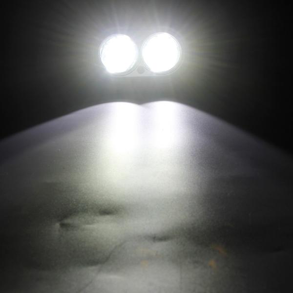 MZ DY6020 DC 9-32V 20W 2000LM 6500K IP68 Waterproof Vehicle Car Boat Marine External Work Lights Emergency Lights 45 Degrees Adjustable Flood Light LED Car Bulbs with 2 Intense CREE LED Lights (White Light)