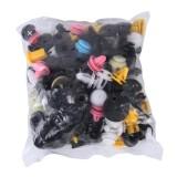 100 PCS Hole Plastic Rivets Fastener Push Clips