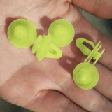 100 PCS Hole Plastic Rivets Fastener Push Clips (Light Green)