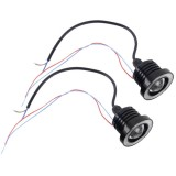 2 PCS 2.5 inch DC12V 10W 900LM 6500K Car Angel Eyes Fog Lamp Foglight, Cable Length: 20cm (Red Light + White Light)