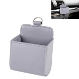 Car Air Vent Mobile Cellphone Pocket Bag Pouch Box Storage Organizer Carrying Case (Grey)
