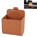 Car Air Vent Mobile Cellphone Pocket Bag Pouch Box Storage Organizer Carrying Case (Brown)