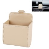 Car Air Vent Mobile Cellphone Pocket Bag Pouch Box Storage Organizer Carrying Case (Khaki)