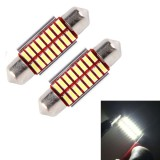 2 PCS DC 12V 3W 36MM Bicuspid Car Door Lamps Registration Mark light Dashboard Dome Door Lights LED Reading Lamp with 16 LED SMD 3014 Lights White