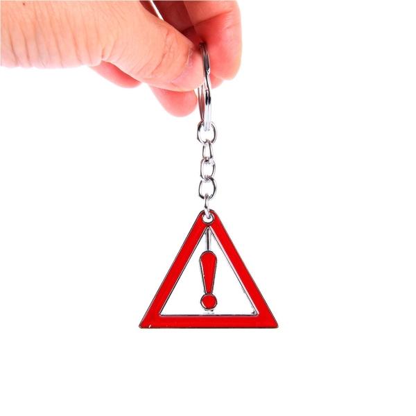 Car Keychain Waist Hung With Tiangle Warning Mark ...