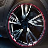 Universal Decorative Scratchproof Stickup 8M Flexible Car Wheel Hub TRIM Mouldings Shining Decoration Strip (Red)
