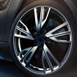 Universal Decorative Scratchproof Stickup 8M Flexible Car Wheel Hub TRIM Mouldings Shining Decoration Strip (Silver)
