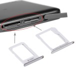 Replacement Samsung Galaxy E5 (Dual SIM Version) SIM Card Tray + Micro SD / SIM Card Tray (Silver)