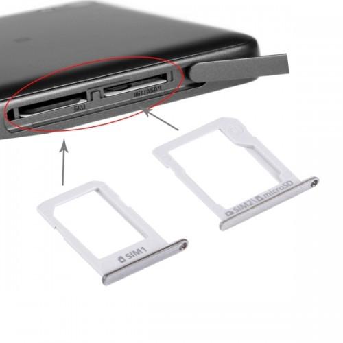 Replacement Samsung Galaxy E5 (Dual SIM Version) SIM Card Tray + Micro SD / SIM Card Tray (Silver)