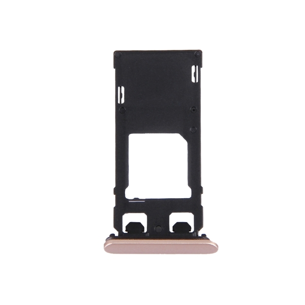 Replacement Sony Xperia X (Single SIM Version) SIM Card Tray + Micro SD Card Tray + Card Slot Port Dust Plug (Rose Gold)
