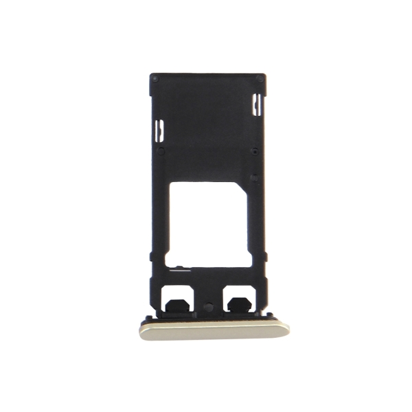 Replacement Sony Xperia X (Single SIM Version) SIM Card Tray + Micro SD Card Tray + Card Slot Port Dust Plug (Lime Gold)