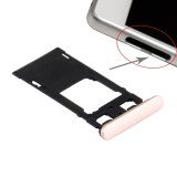 Replacement Sony Xperia X (Dual SIM Version) SIM Card Tray + Micro SD / SIM Card Tray + Card Slot Port Dust Plug (Rose Gold)