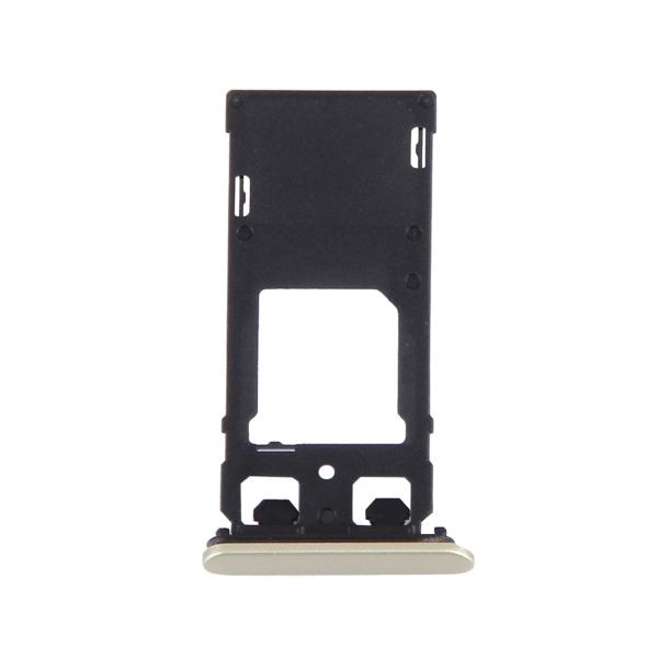Replacement Sony Xperia X (Dual SIM Version) SIM Card Tray + Micro SD / SIM Card Tray + Card Slot Port Dust Plug (Lime Gold)
