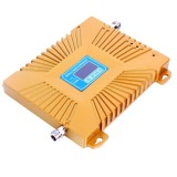 GSM900 / WCDMA2100 Mini Mobile Phone LCD Signal Repeater with Logarithm Periodic Antenna (Gold)