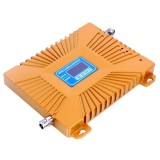 GSM900 / DCS1800MHz Mini Mobile Phone LCD Signal Repeater with Logarithm Periodic Antenna (Gold)