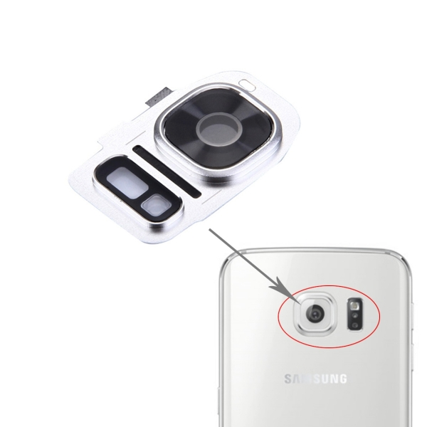 wholesale dealer bcd3e 66fa8 Replacement Samsung Galaxy S7 / G930 Rear Camera Lens Cover + Flashlight  Bracker (Silver)
