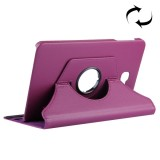 For Samsung Galaxy Tab A 10.1 / T580 Litchi Texture Horizontal Flip 360 Degrees Rotation Leather Case with Holder (Purple)