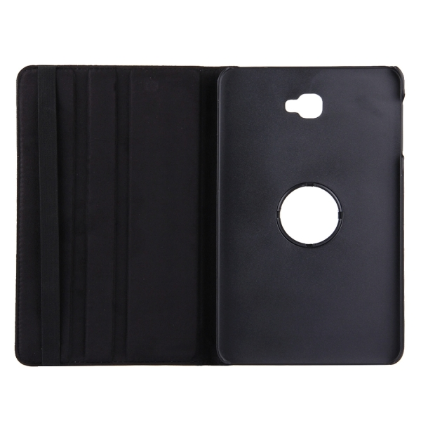 For Samsung Galaxy Tab A 10.1 / T580 Litchi Texture Horizontal Flip 360 Degrees Rotation Leather Case with Holder (Black)