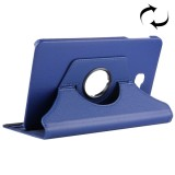 For Samsung Galaxy Tab A 10.1 / T580 Litchi Texture Horizontal Flip 360 Degrees Rotation Leather Case with Holder (Dark Blue)